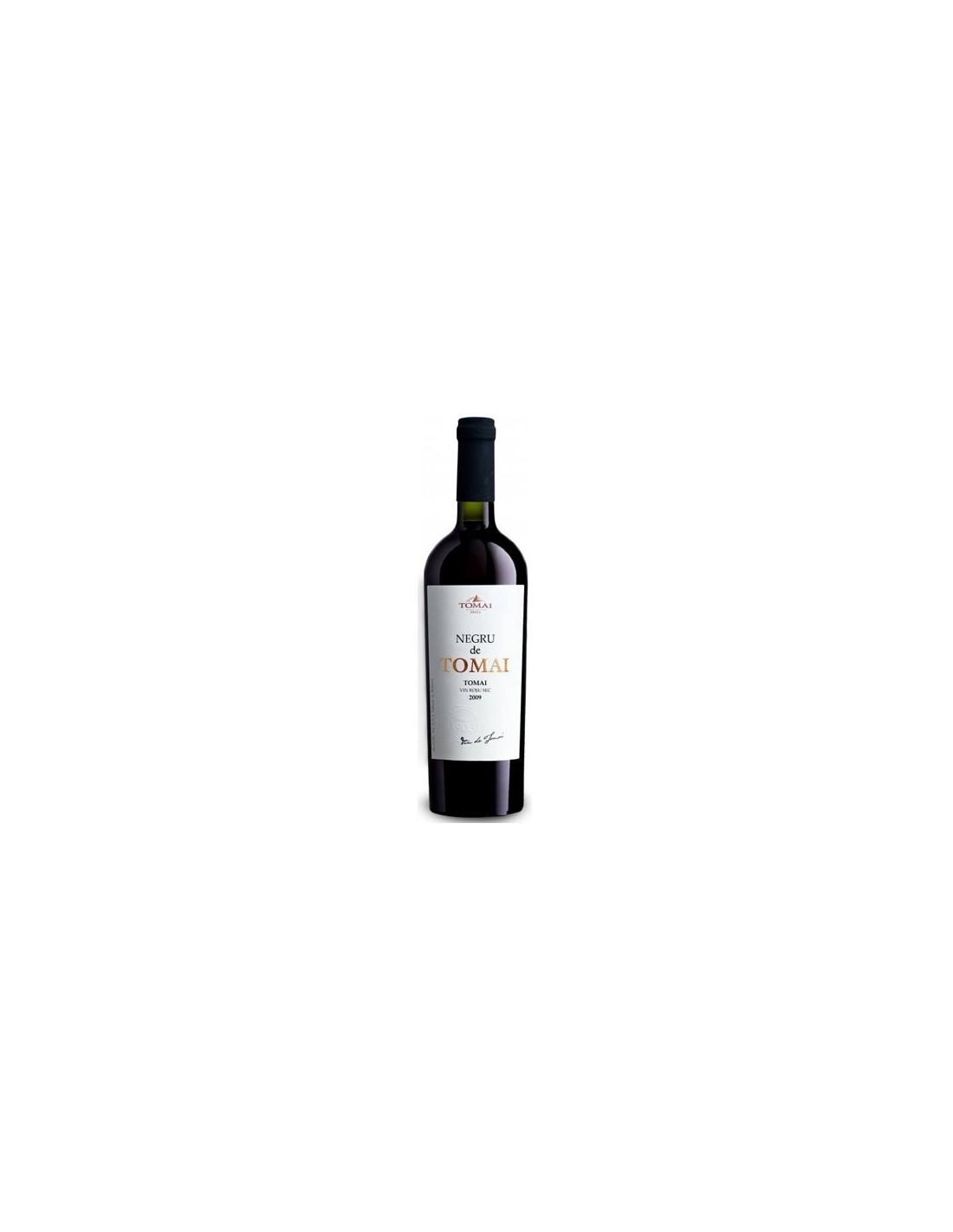 Vin rosu sec, Cupaj, Negru de Tomai, 0.75L, 13% alc., Republica Moldova