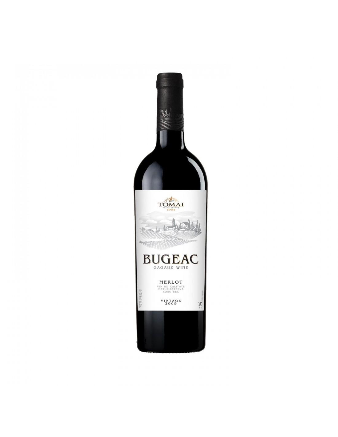 Vin rosu sec, Merlot, Buceag, 0.75L, Republica Moldova