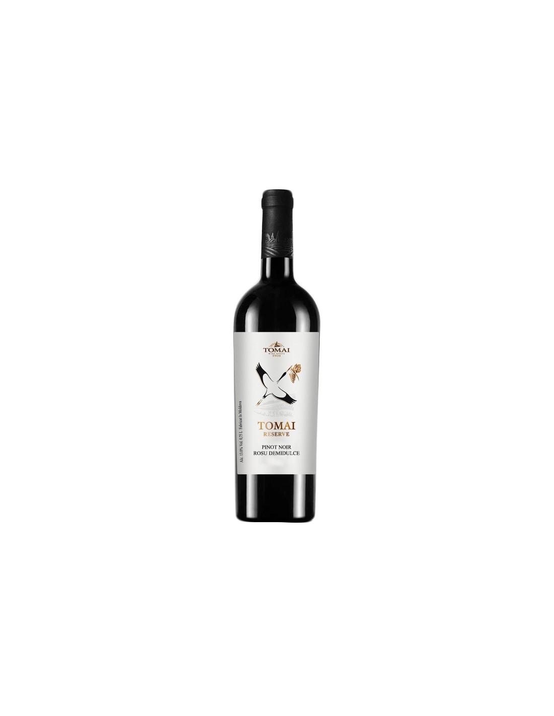 Vin rosu demidulce, Pinot Noir, Tomai Reserve, 0.75L, Republica Moldova