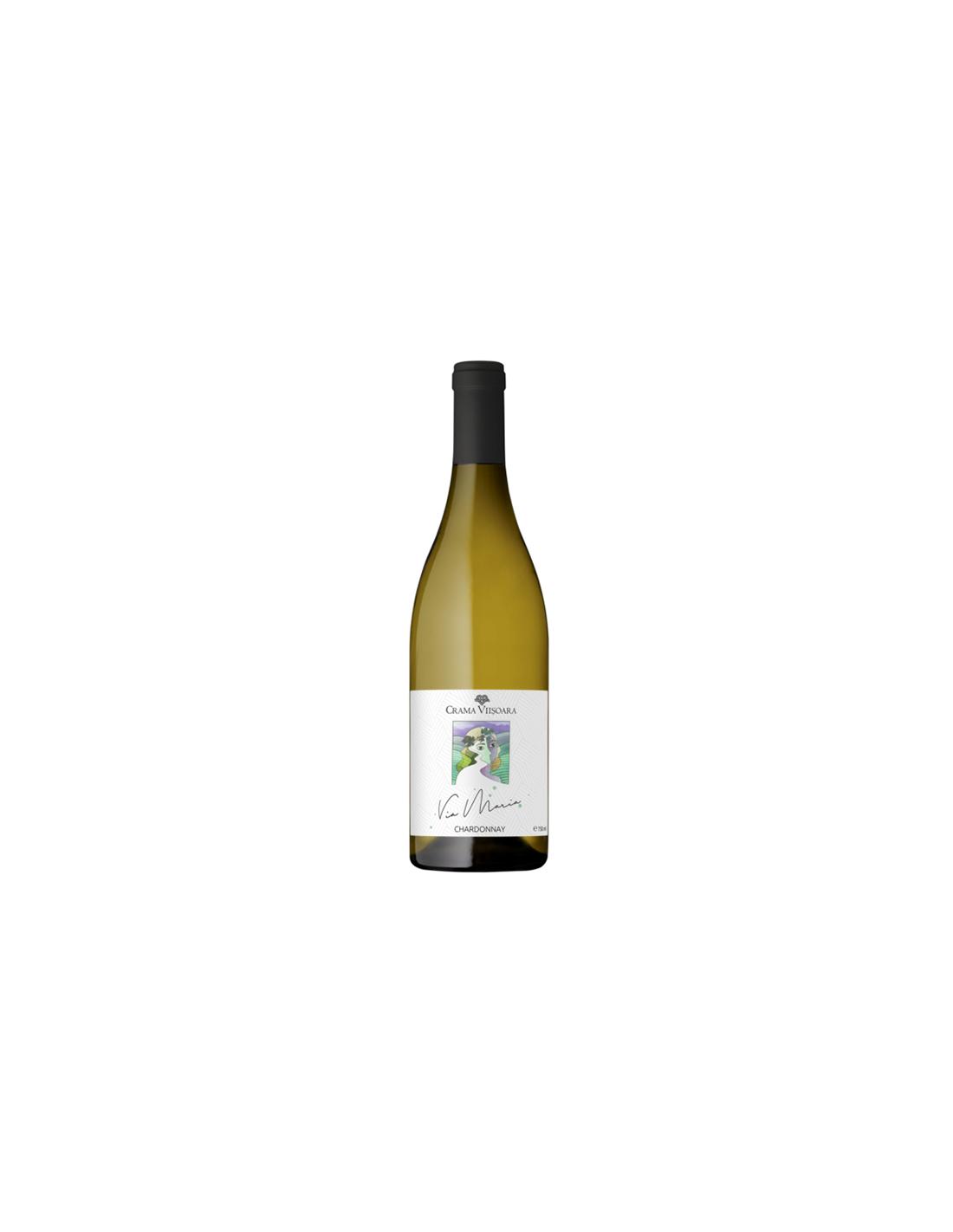Vin alb sec, Chardonnay, Via Maria Colinele Dobrogei, 0.75L, 14% alc., Romania