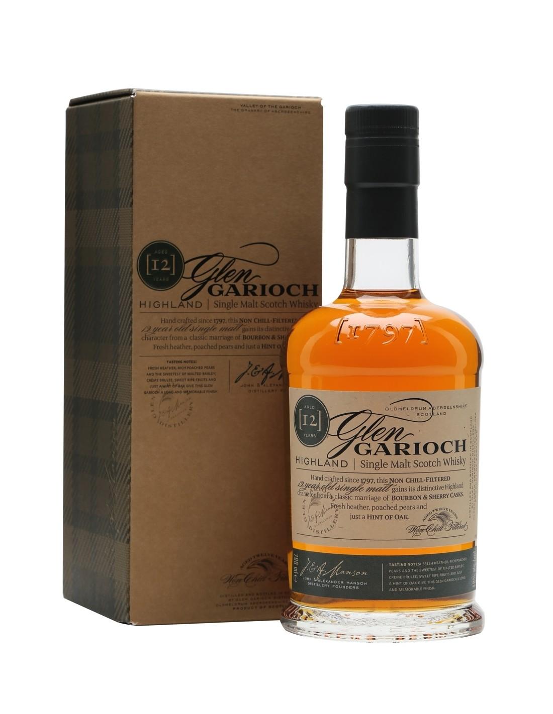 Whisky Glen Garioch, 12 ani, 48% alc., 1L, Scotia