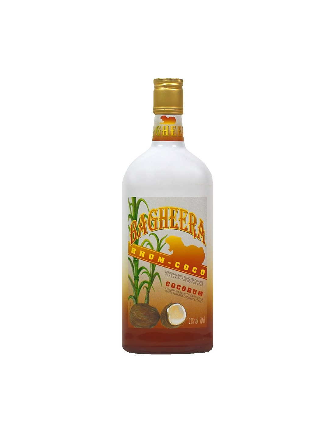 Rom cocos Bagheera, 21% alc., 0.7L