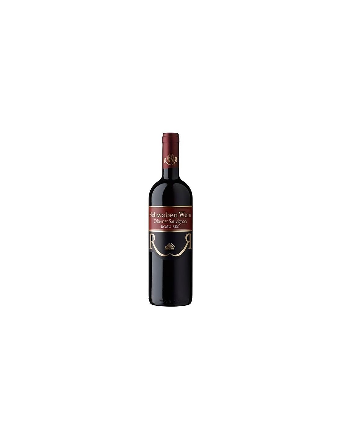 Vin rosu sec, Cabernet Sauvignon, Schwaben Wein Recas, 0.75L, Romania