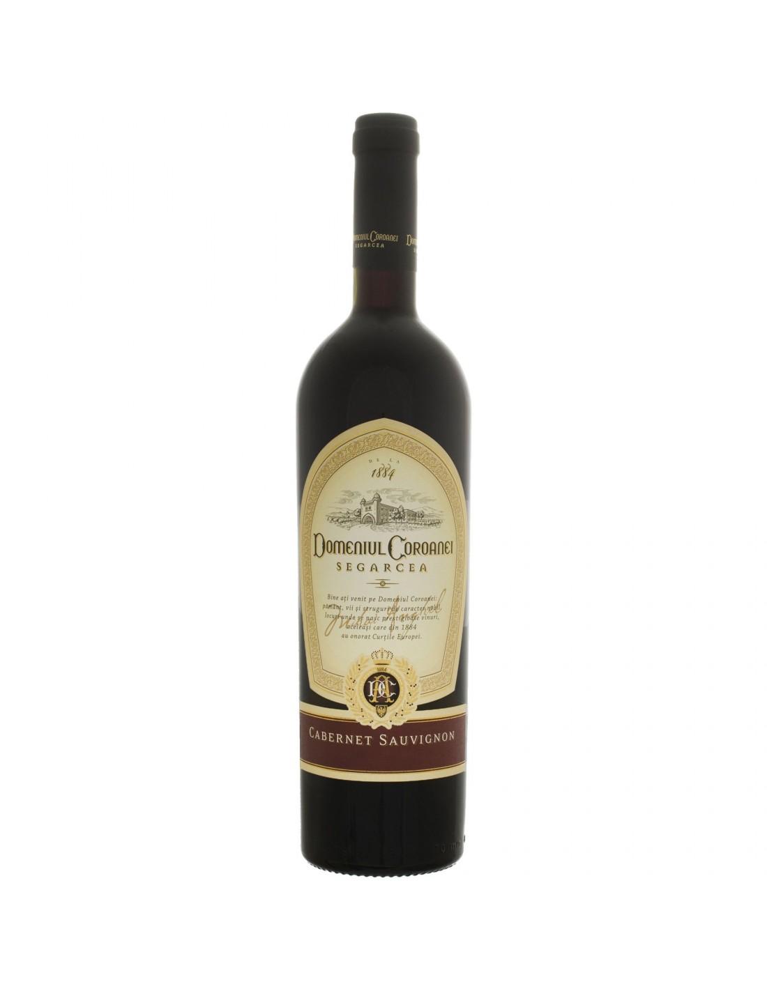 Vin rosu sec, Cabernet sauvignon, Domeniul Coroanei Segarcea, 0.75L, 13.5% alc., Romania