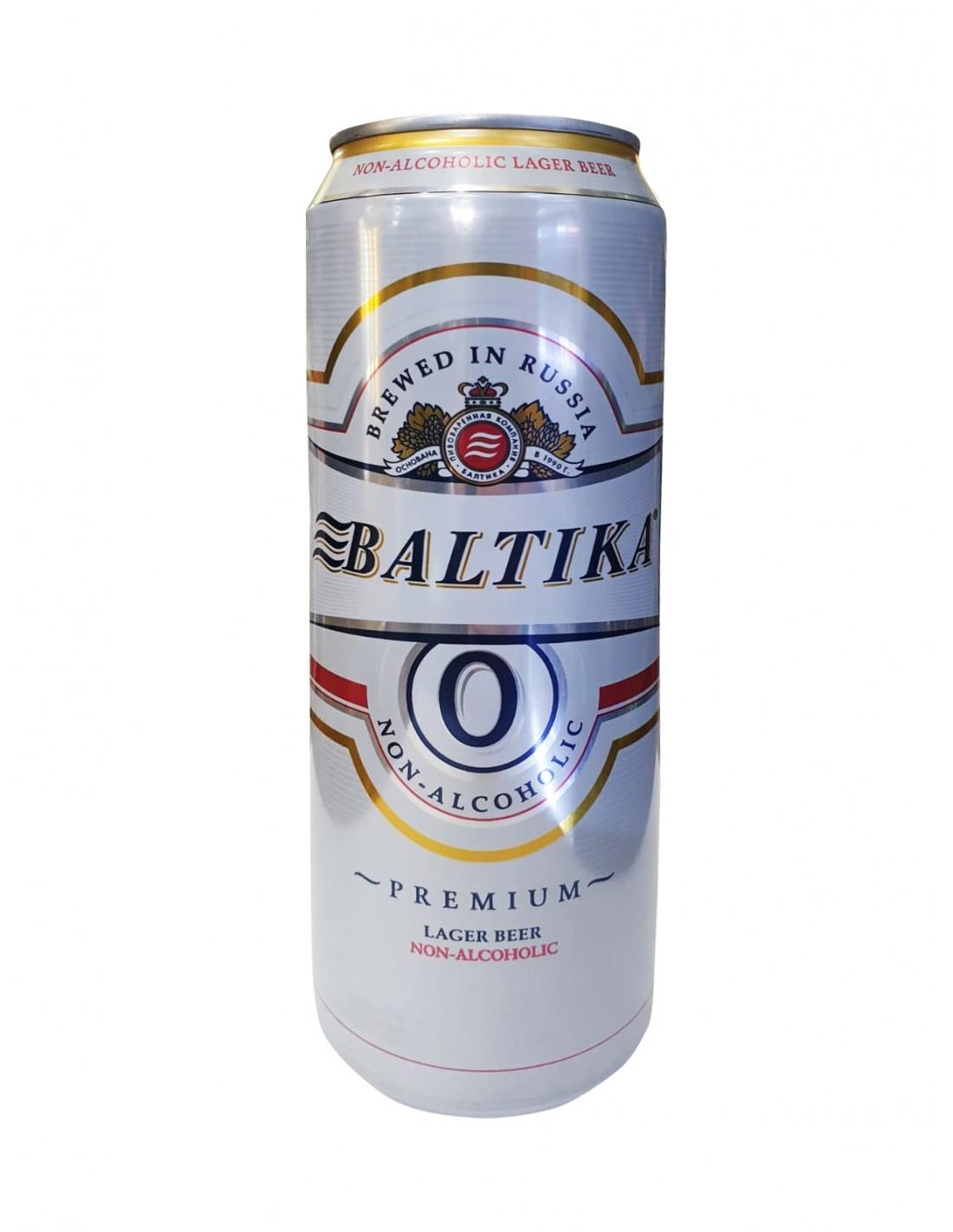 Bere blonda fara alcool Baltika, 0% alc., 0.45L, Rusia