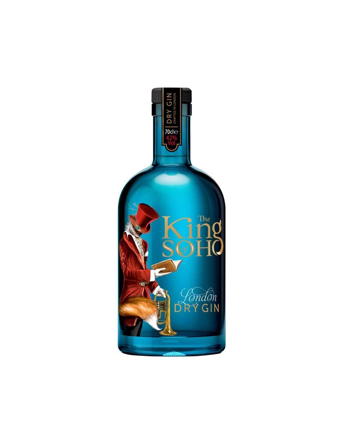 Gin King Of Soho 42% alc., 0.7L, Marea Britanie
