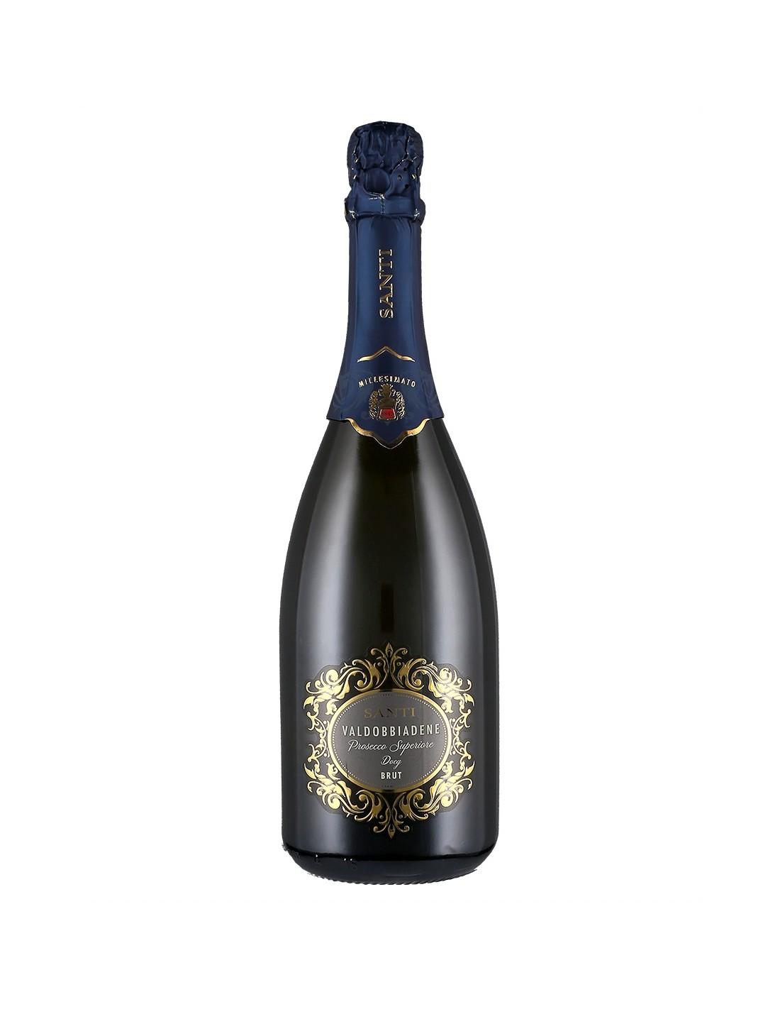 Vin spumos prosecco, Santi Conegliano-Valdobbiadene, 0.75L,, Italia