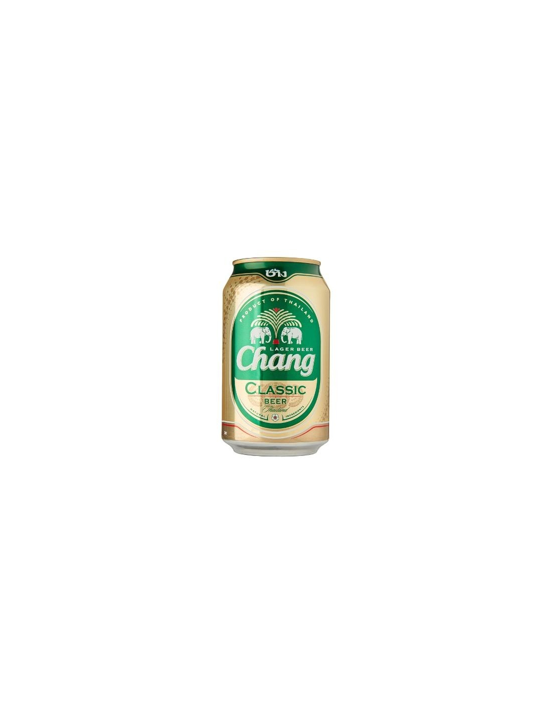 Bere blonda Chang Classic, 5% alc., 0.33L, Thailanda