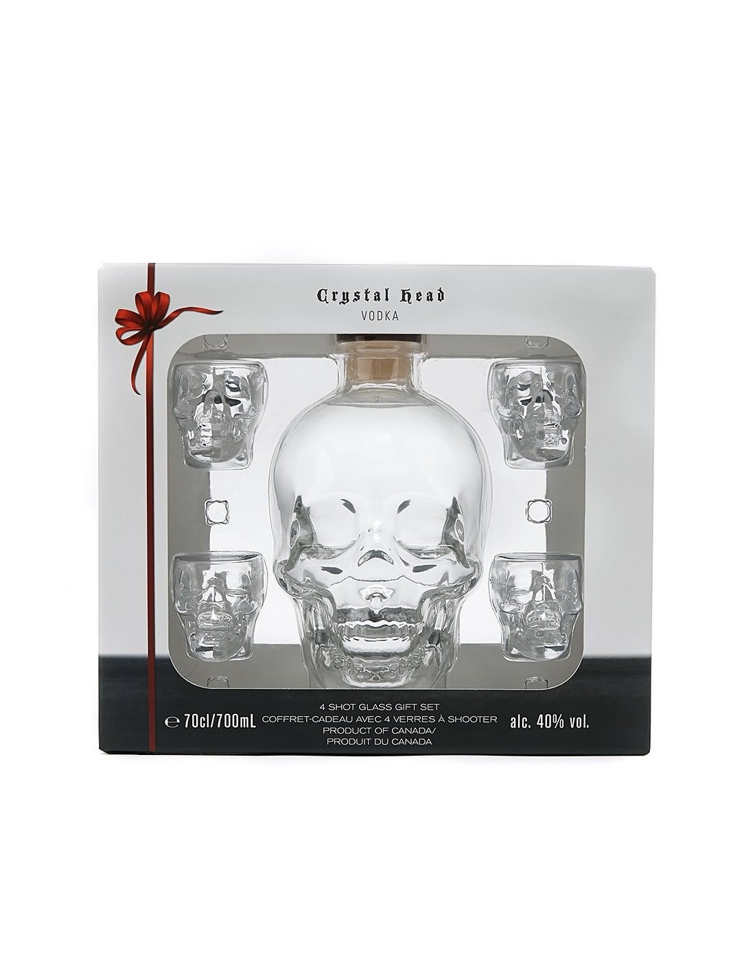 Vodca Crystal Head + 4 Pahare 0.7L, 40% alc., Canada