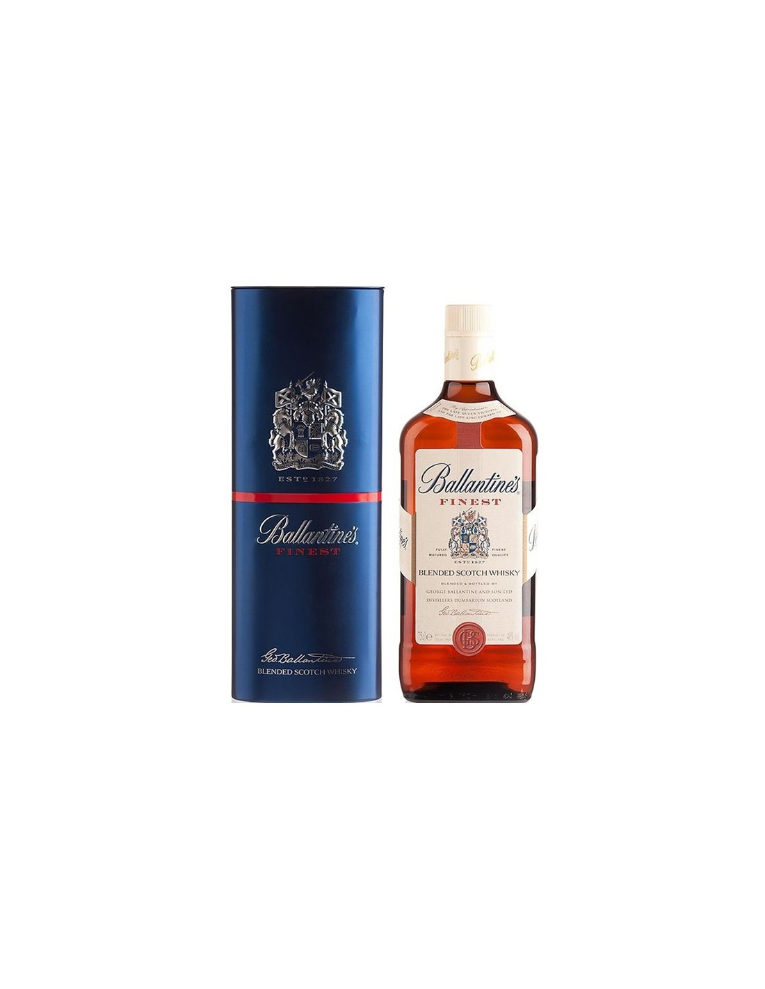 Whisky Ballantine's Finest + cutie, 40% alc., 0.7L, Scotia