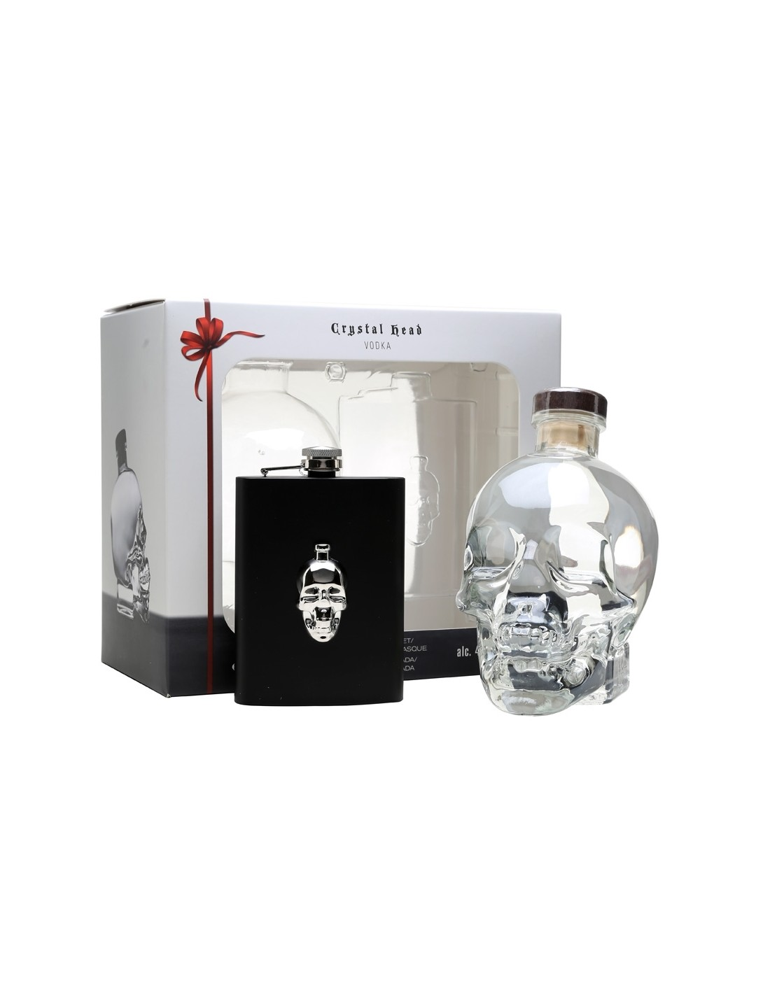Vodca Crystal Head Hipflask 0.7L, 40% alc., Canada