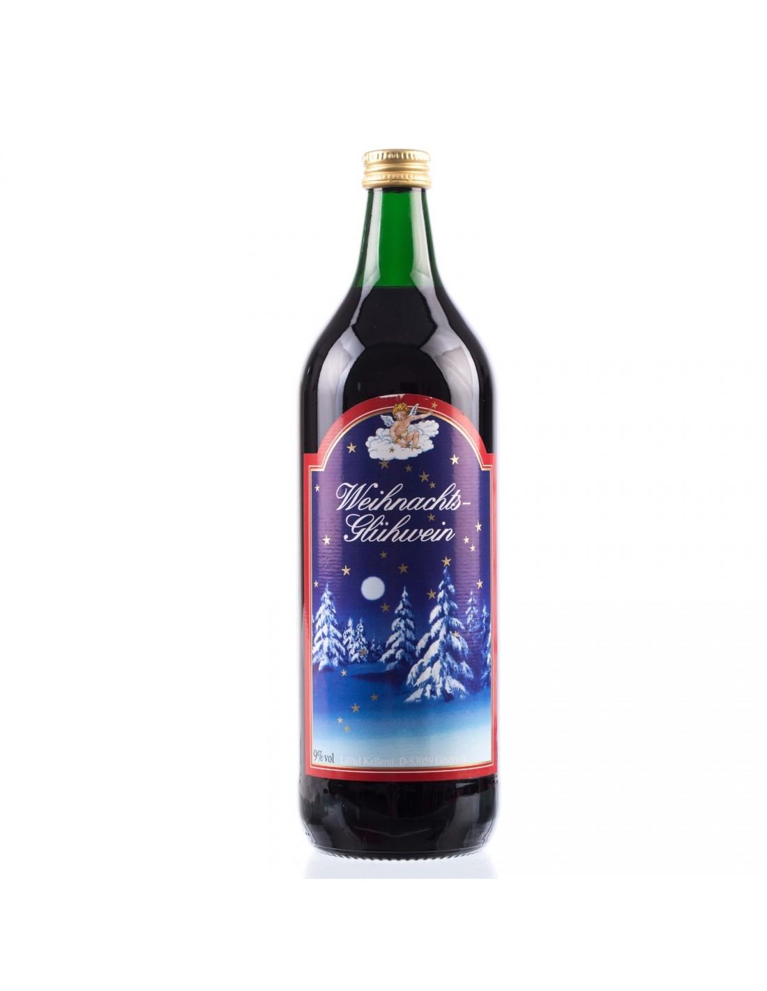 Vin rosu Weihnachts Gluhwein, 9% alc., 1L