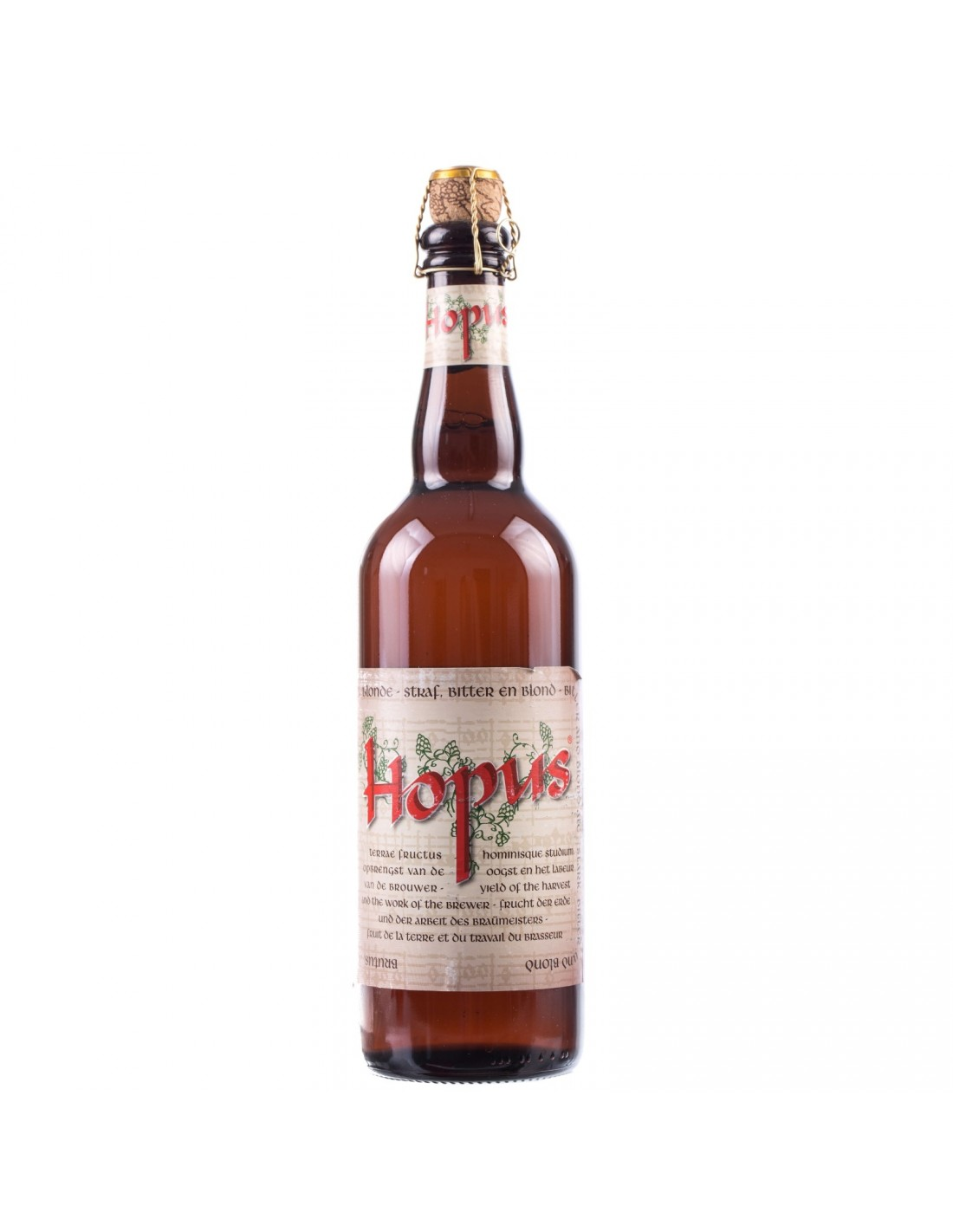 Bere blonda Hopus, 8.3% alc., 0.75L, Belgia