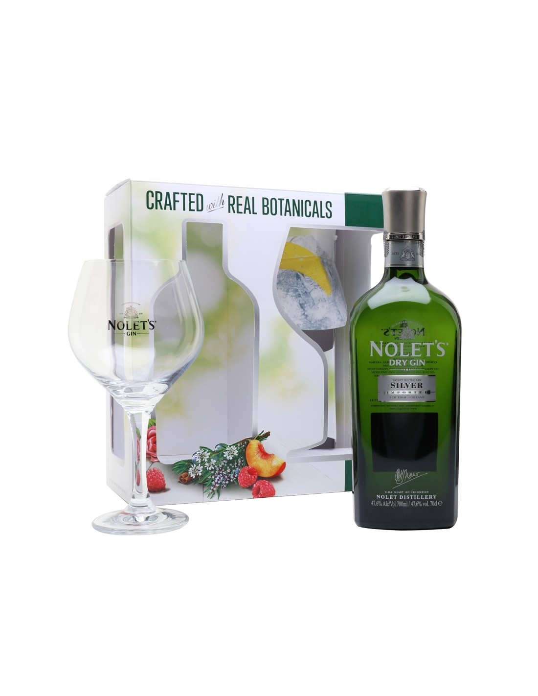 Gin Nolet`S Silver Dry + Pahar 47.6% alc., 0.7L