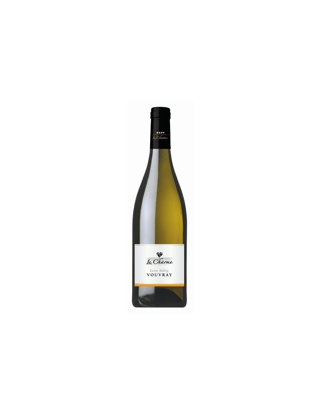Vin alb sec, Le Charme Vouvray, 0.75L, 11.5% alc., Franta