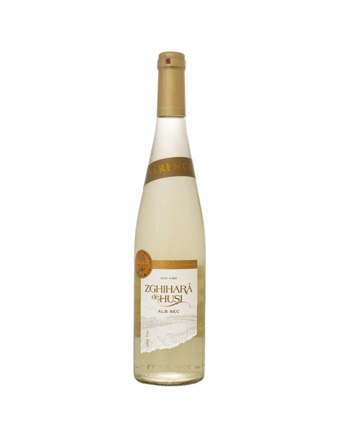 Vin alb sec, Zghihara De Husi, 13% alc., 0.75L, Romania