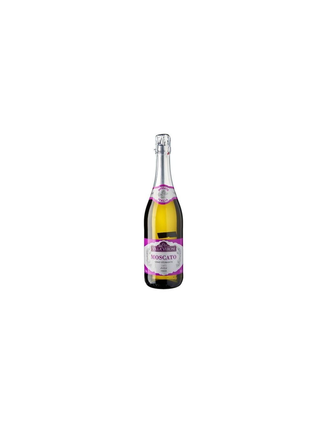 Vin spumos prosecco alb dulce Moscato, Villa Veroni, 0.75L,, Italia