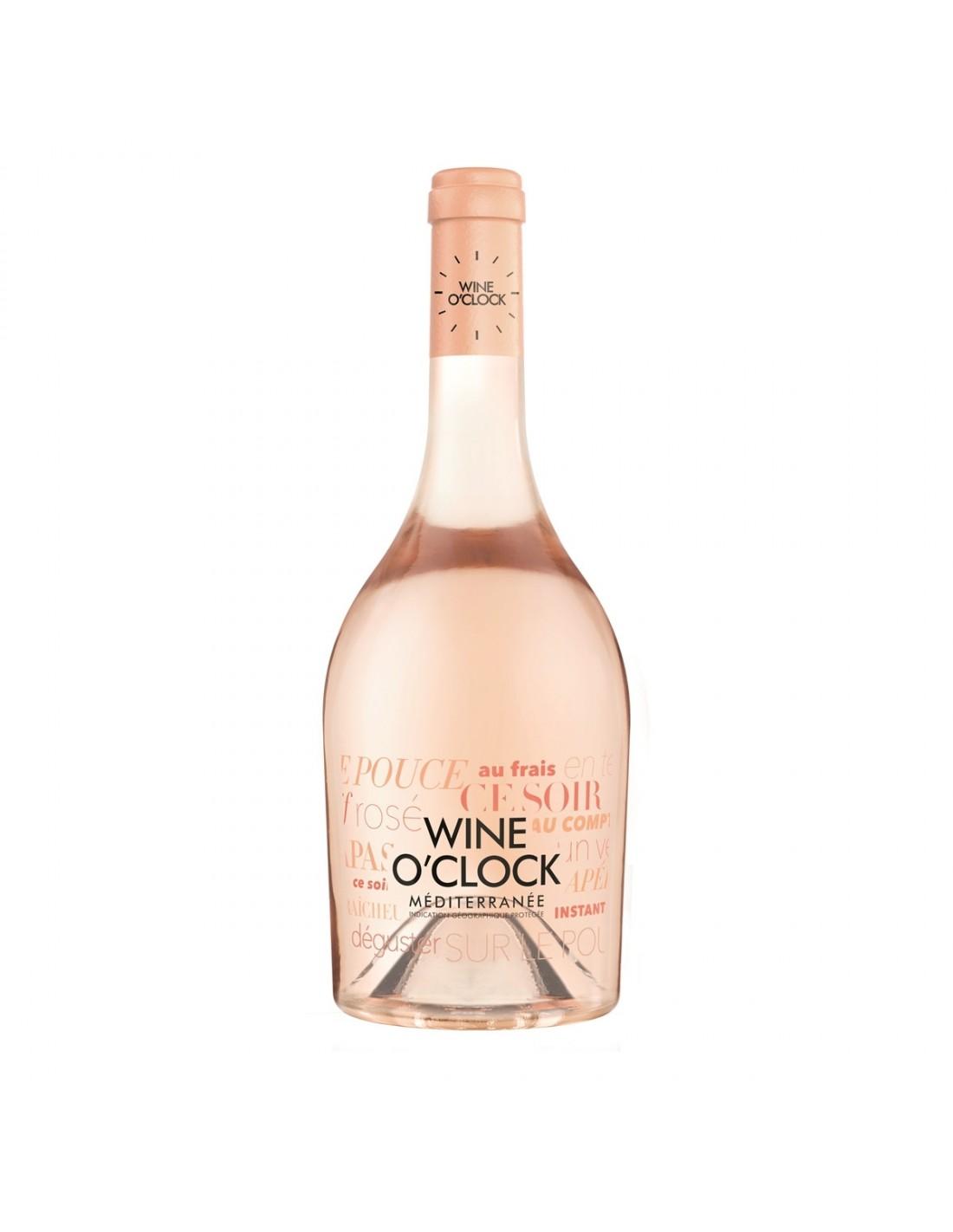 Vin roze, Wine O'Clock Méditerranée, 0.75L, 12% alc., Franta
