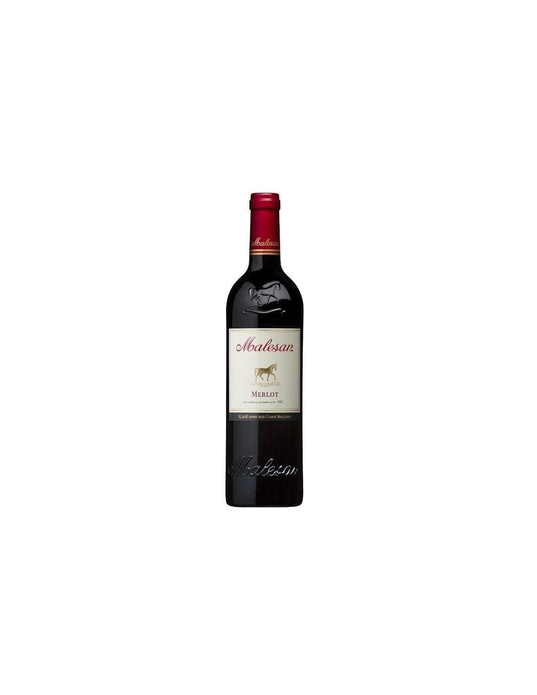 Vin rosu, Merlot, Malesan Bordeaux, 0.75L, Franta