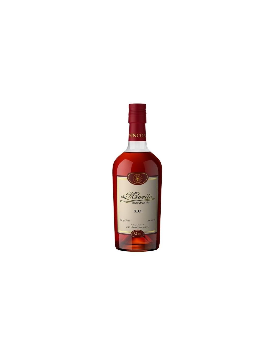 Coniac Brandy Miorita Vinars Xo 40% alc., 0.7L, Romania