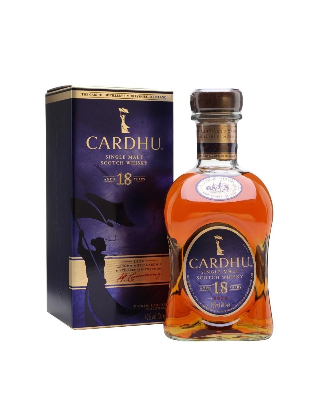 Whisky Cardhu, 18 ani, 40% alc., 0.7L, Scotia
