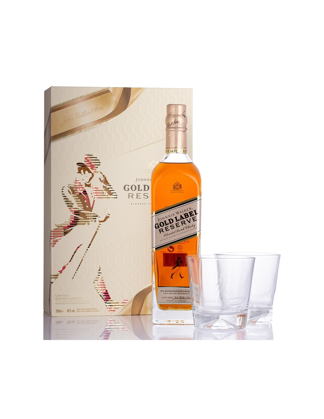 Whisky Johnnie Walker Gold Reserve + 2 Pahare, 40% alc., 0.7L, Scotia