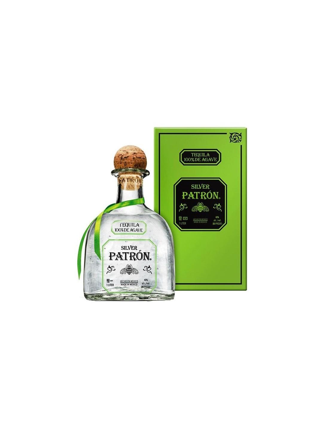 Tequila alba Patron Silver 0.7L, 40% alc., Mexic