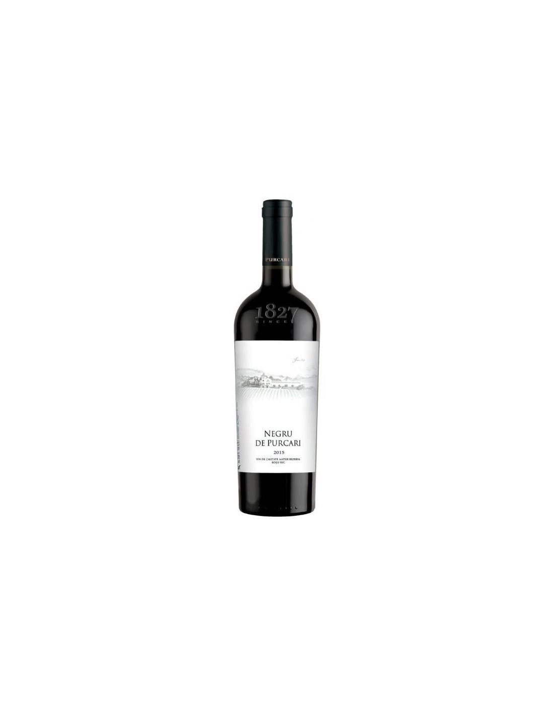 Vin rosu sec, Cupaj, Negru de Purcari Stefan Voda, 0.75L, 13.5% alc., Republica Moldova