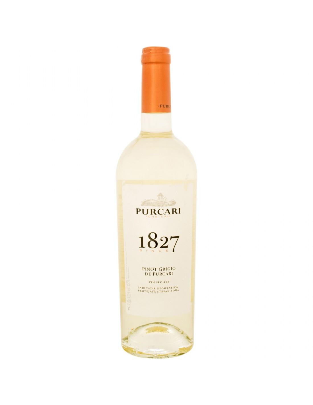 Vin alb sec, Pinot Grigio, Purcari Stefan Voda, 0.75L, 12% alc., Republica Moldova