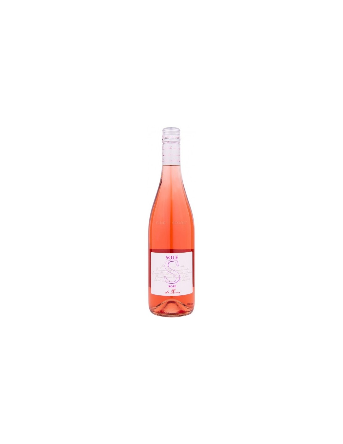 Vin roze sec, Sole Recas, 0.75L, 13.5% alc., Romania