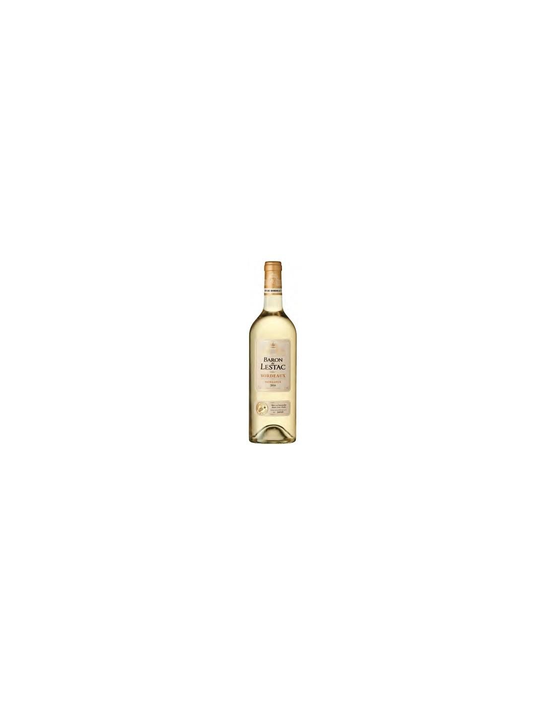 Vin alb, Moelleux, Baron de Lestac Bordeaux, 0.75L, 12% alc., Franta