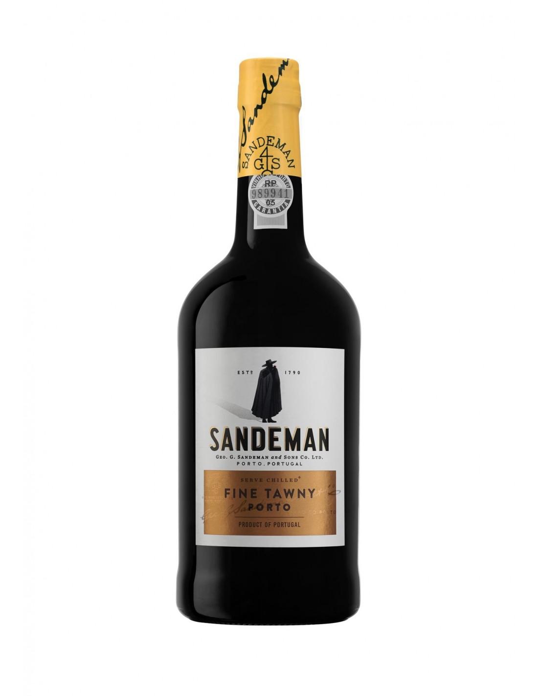 Vin porto rosu, Cupaj, Sandeman Fine Tawny Porto, 0.75L, 19.5% alc., Portugalia