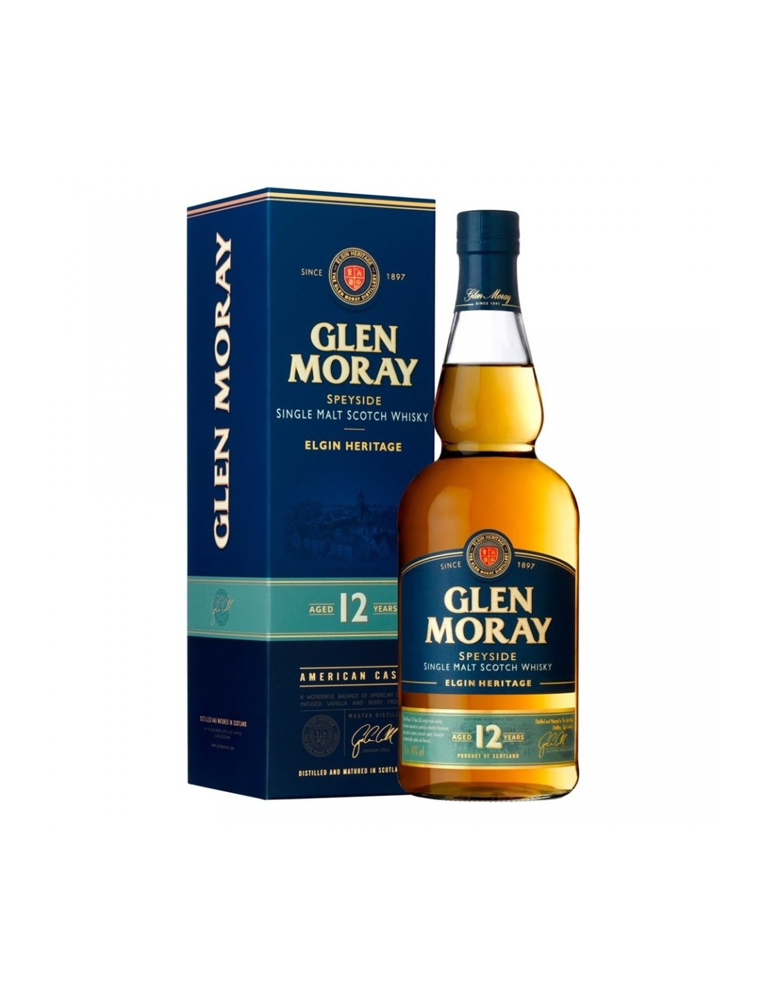 Whisky Glen Moray, 12 ani, 40% alc., 0.7L, Scotia