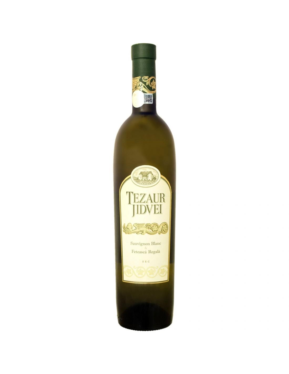 Vin alb sec, Cupaj, Tezaur, 0.75L, 12.5% alc., Romania