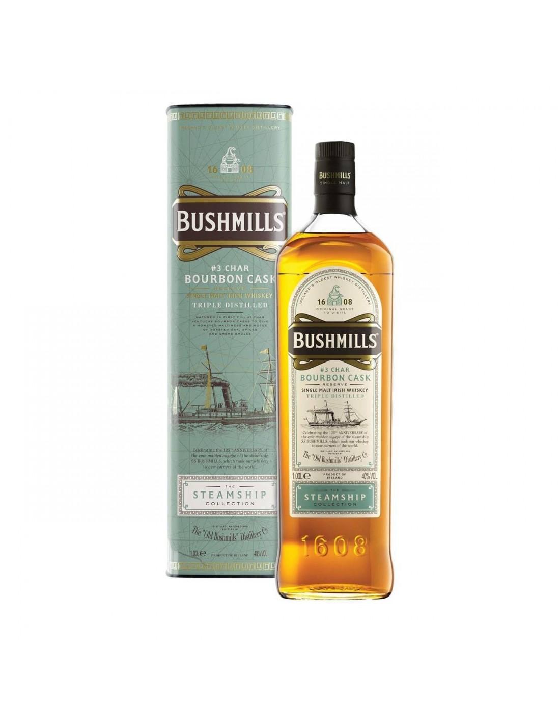 Whisky Bourbon Bushmills, 40% alc., 1L, Irlanda