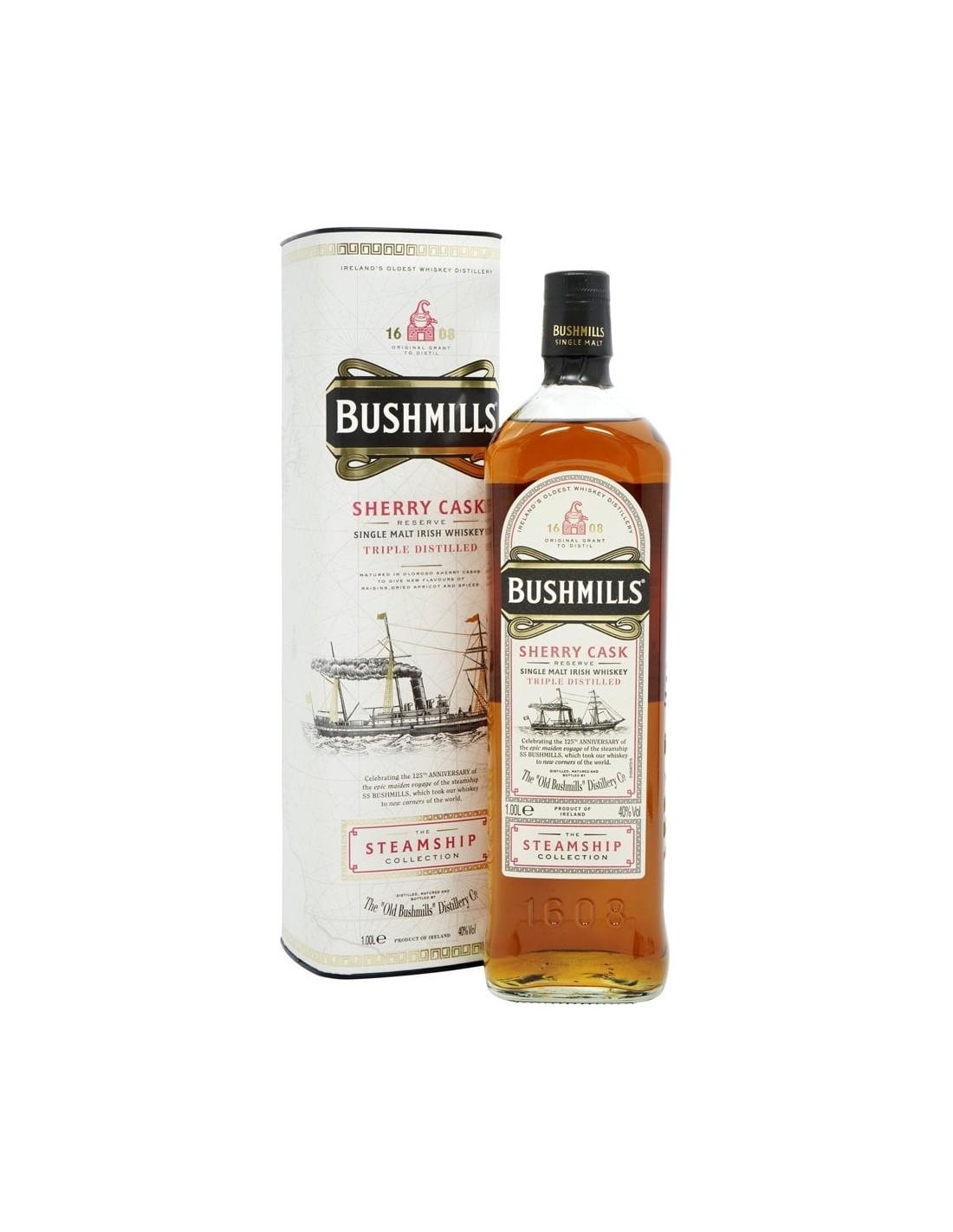 Whisky Bourbon Bushmills Sherry Cask, 40% alc., 1L, Irlanda