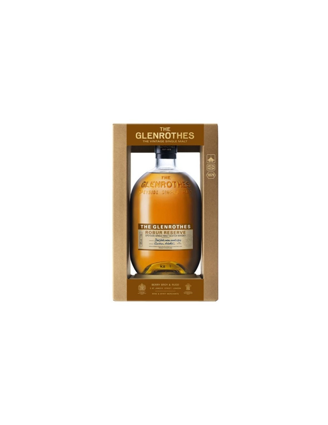 Whisky Glenrothes Speyside Robur, 40% alc., 1L, Scotia