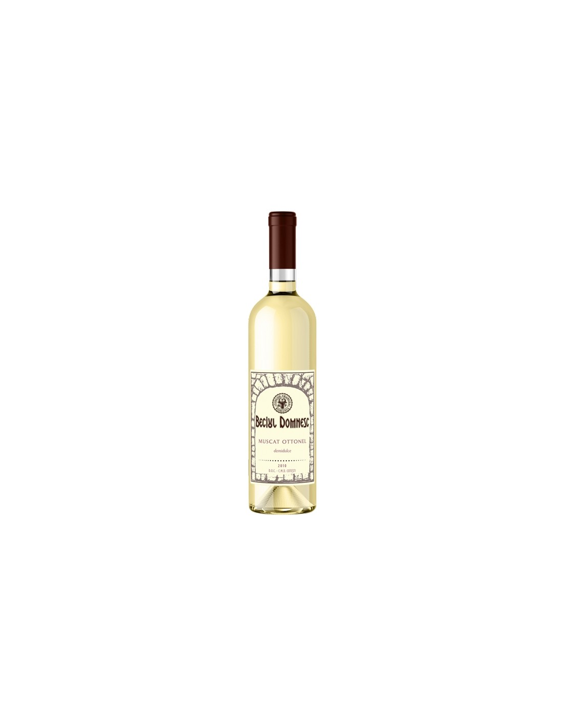 Vin alb demisec, Muscat Ottonel, Beciul Domnesc Dealu Mare, 0.75L, 12.5% alc., Romania