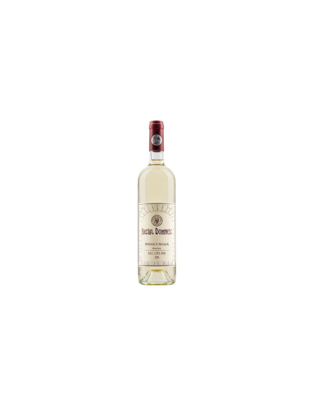 Vin alb demisec, Feteasca Regala, Beciul Domnesc Husi, 0.75L, 13% alc., Romania