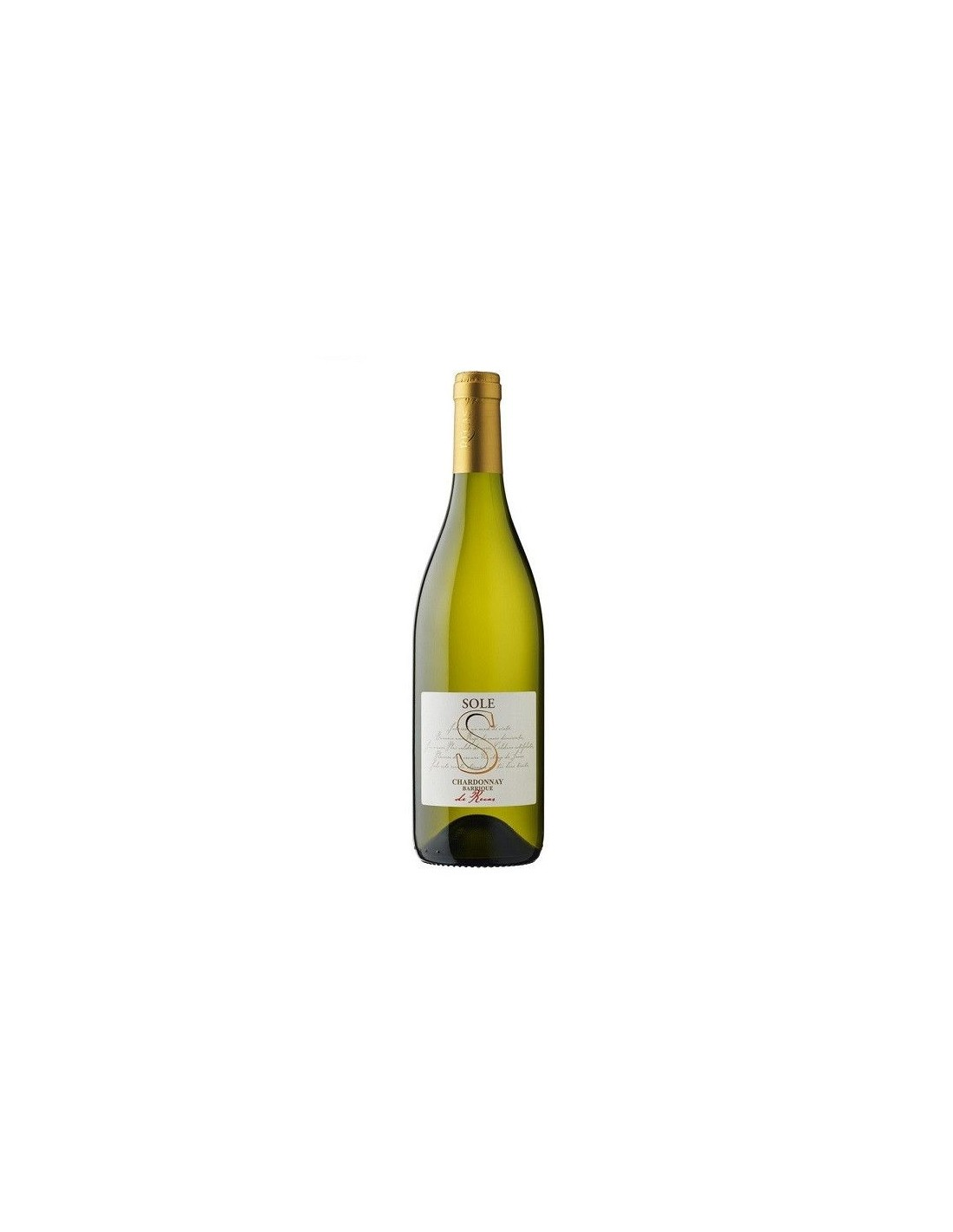 Vin alb sec, Chardonnay, Sole Recas, 0.75L, 14% alc., Romania