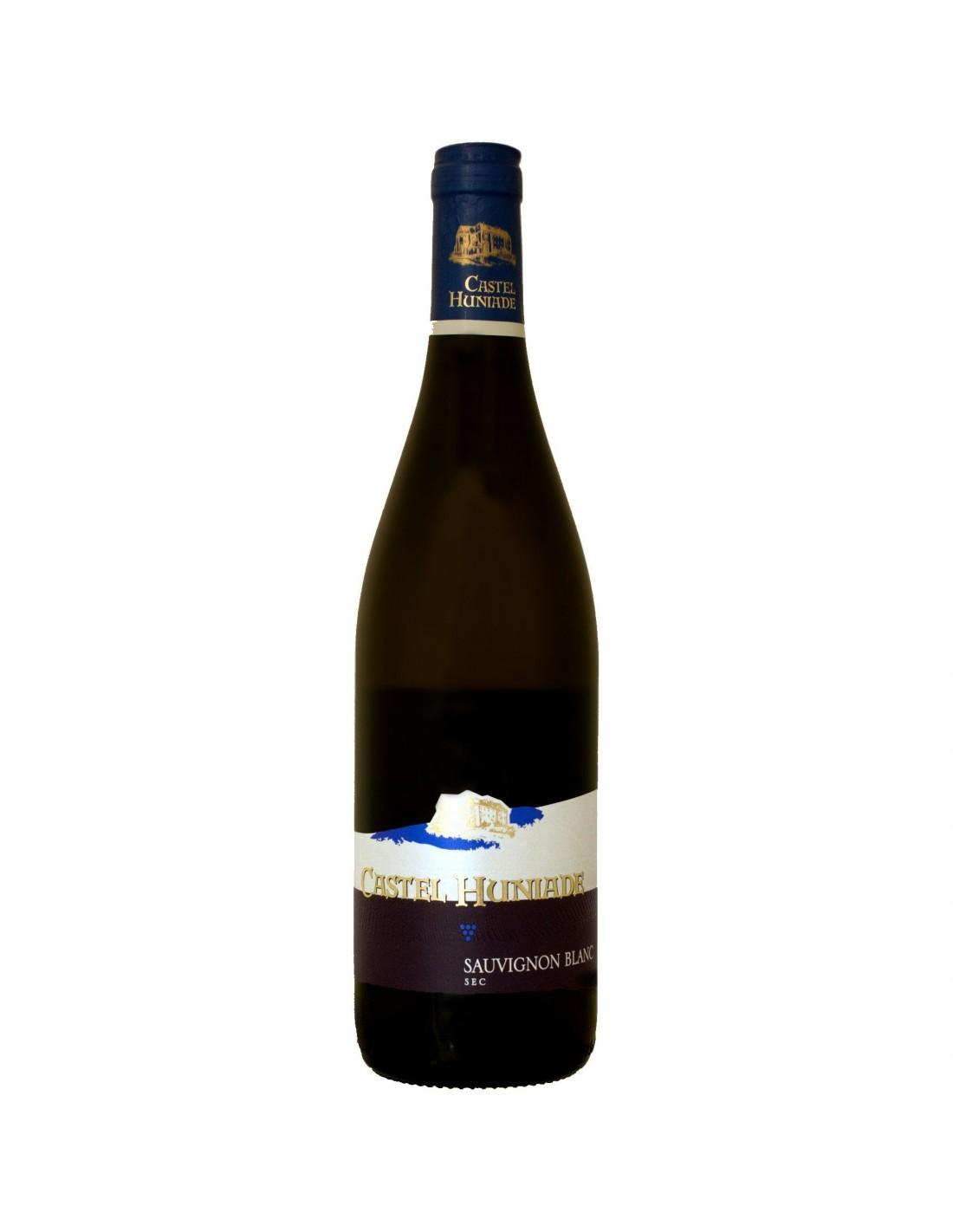 Vin alb sec, Sauvignon Blanc, Castel Huniade Recas, 0.75L, 12.5% alc., Romania