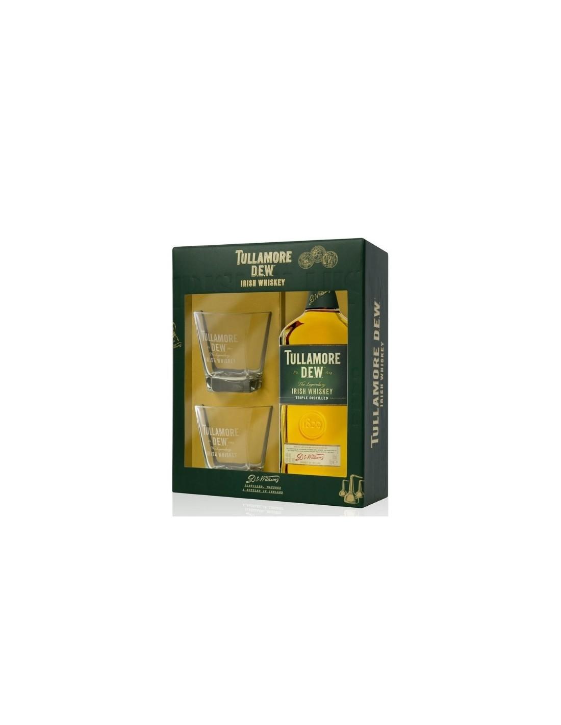 Whisky Tullamore Dew + 2 Pahare, 40% alc., 0.7L, Irlanda