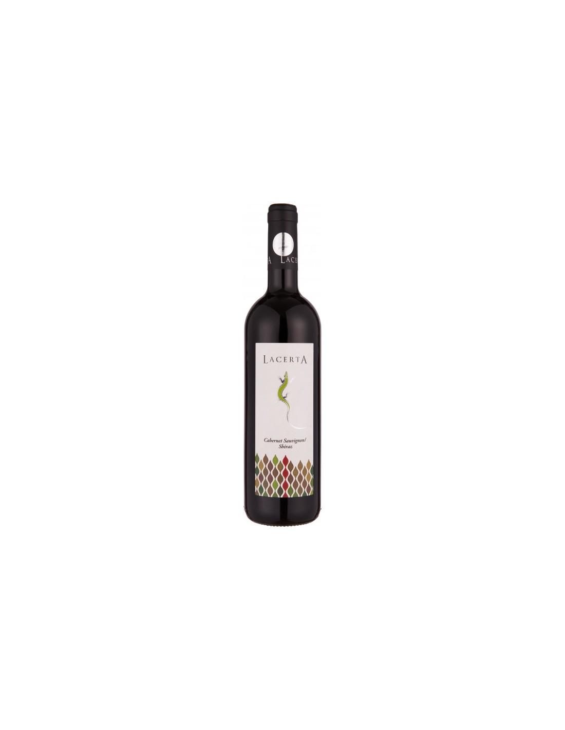 Vin rosu sec, Cabernet Sauvignon - Shiraz, Lacerta Dealu Mare, 0.75L, 14.2% alc., Romania