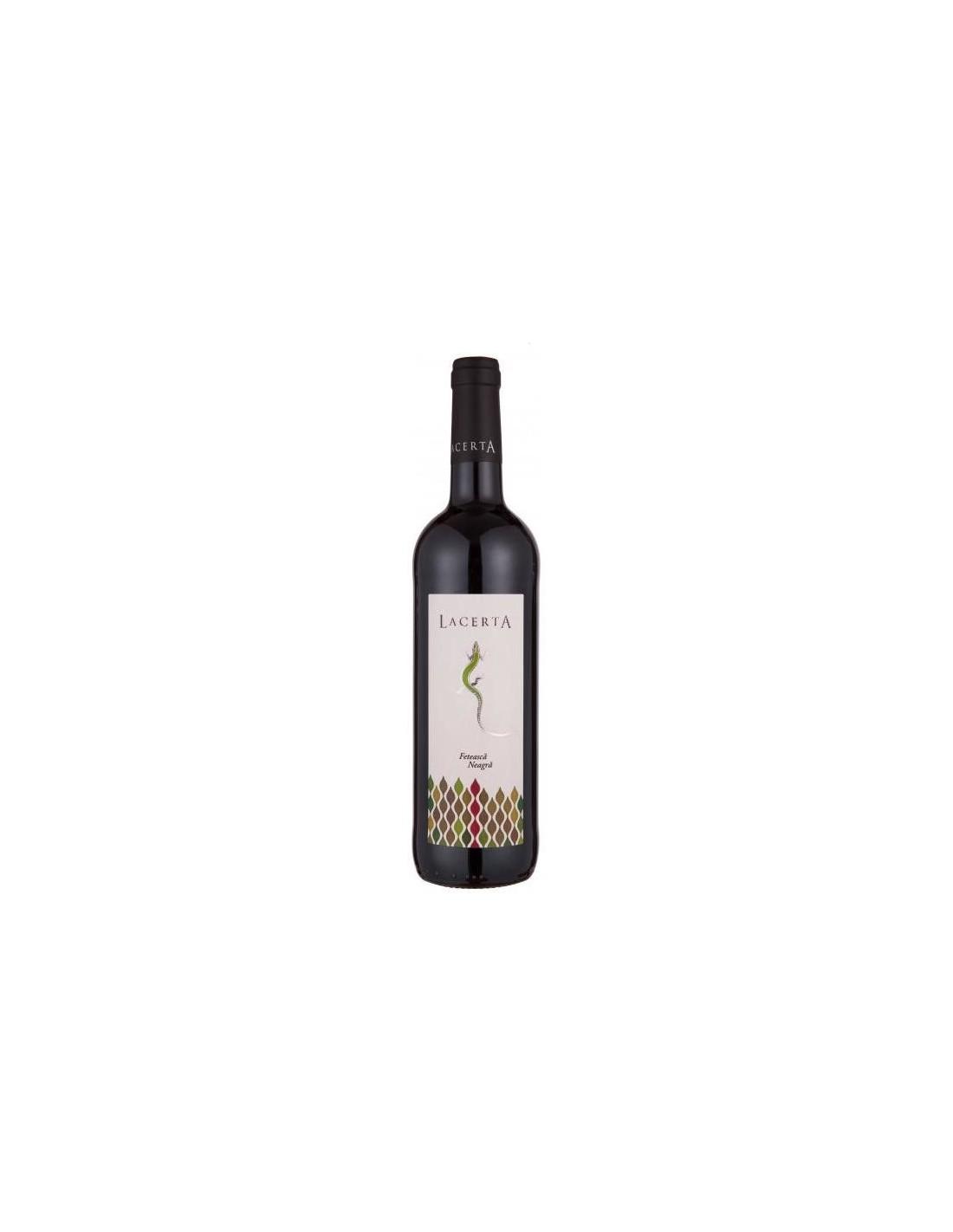 Vin rosu, Feteasca Neagra, Lacerta Dealu Mare, 2016, 0.75L, 14.2% alc., Romania