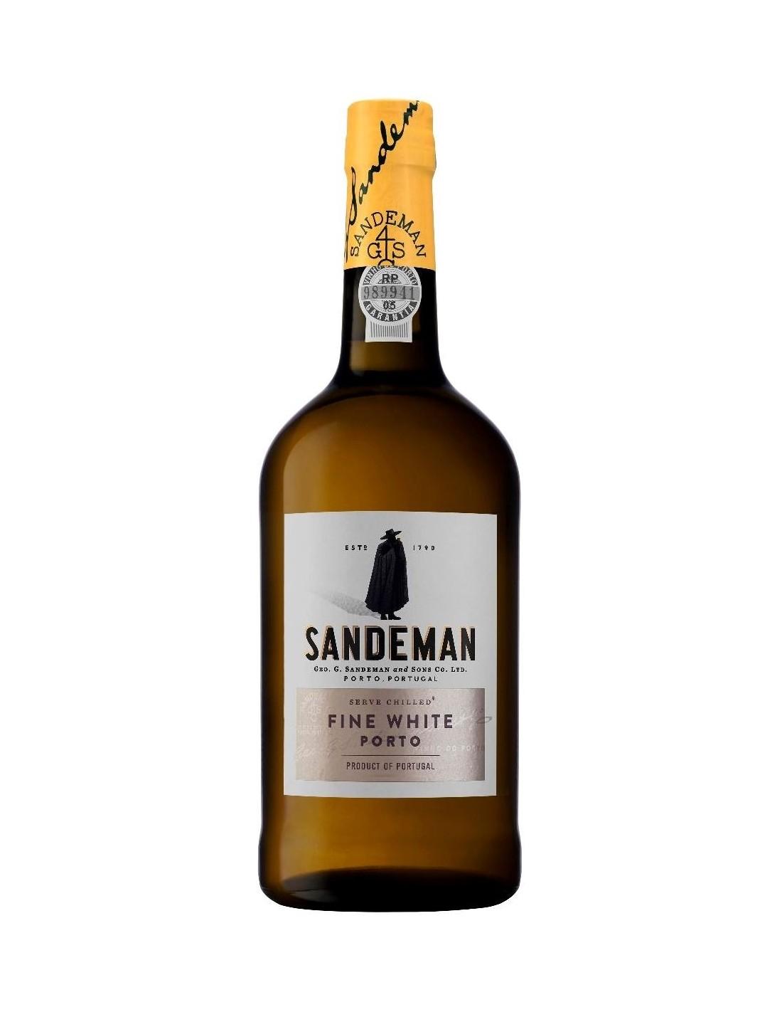 Vin porto alb, Cupaj, Sandeman White Porto, 0.75L, 19.5% alc., Portugalia