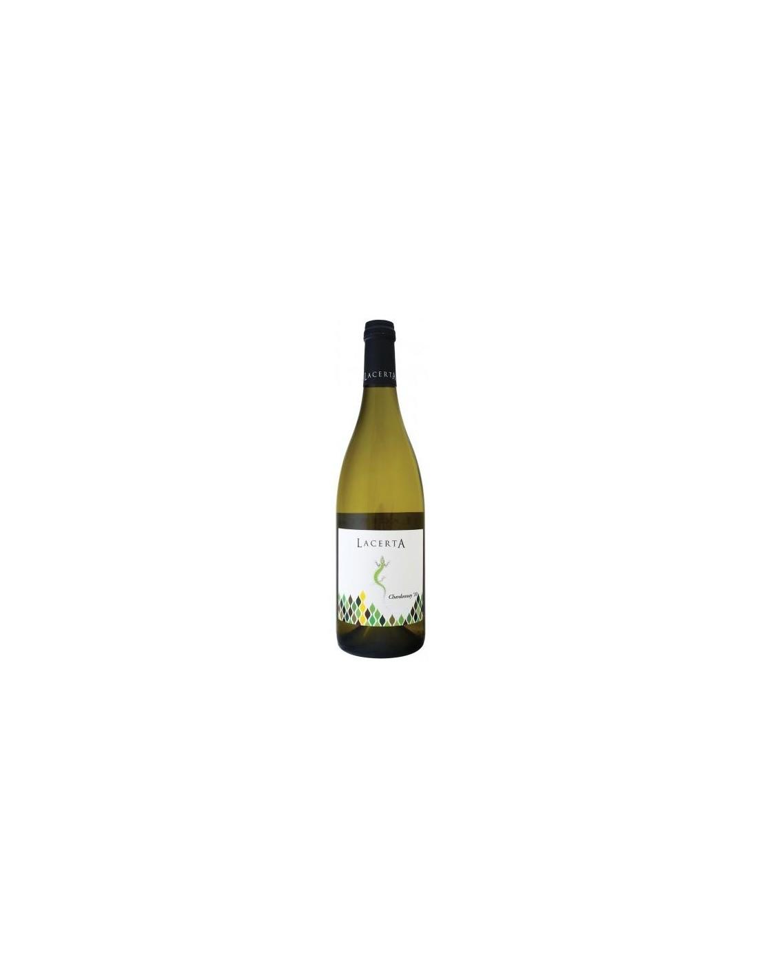 Vin alb, Chardonnay, Lacerta Dealu Mare, 2018, 0.75L, 13.8% alc., Romania