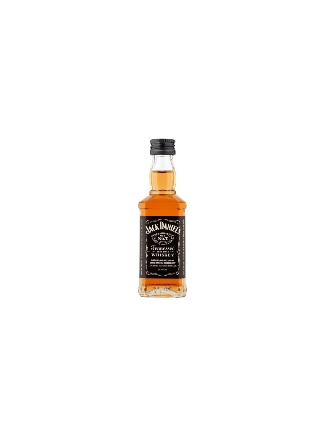 Whisky Bourbon Jack Daniel's, 40% alc., 0.05L, America