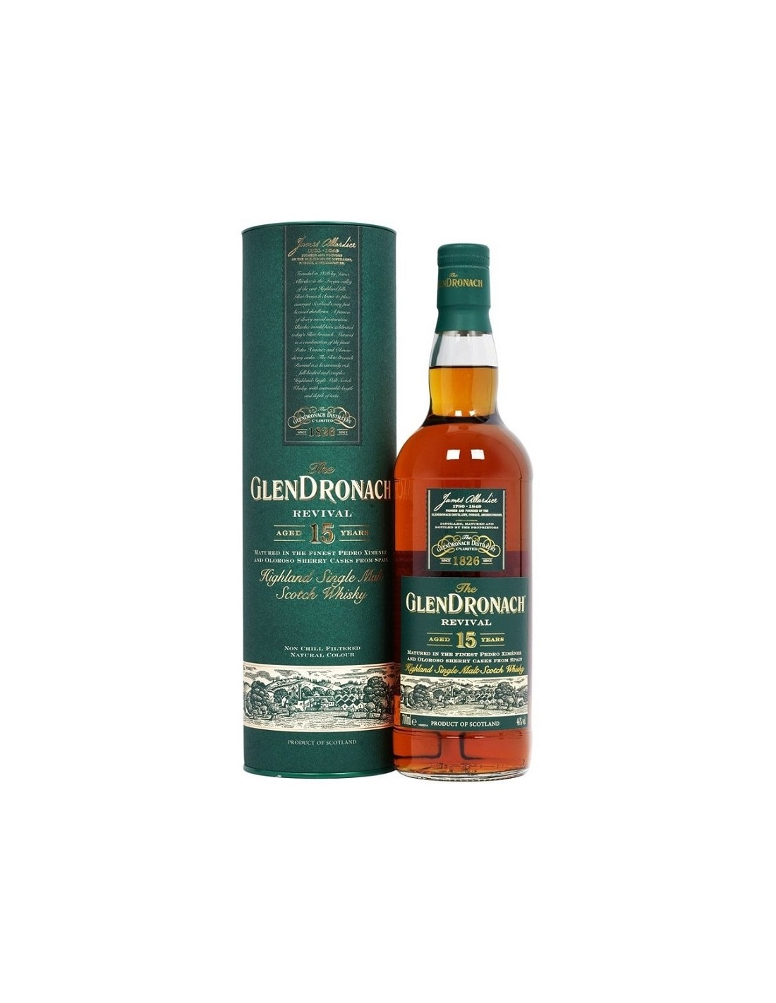Whisky Glendronach, 15 ani, 46% alc., 0.7L, Scotia