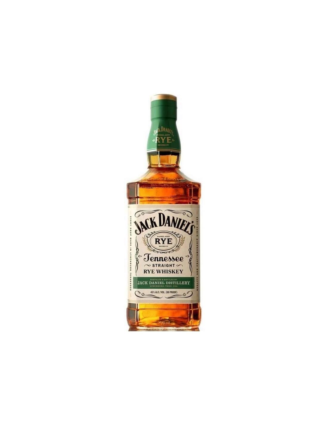 Whisky Bourbon Jack Daniel's Rye, 45% alc., 0.7L, America