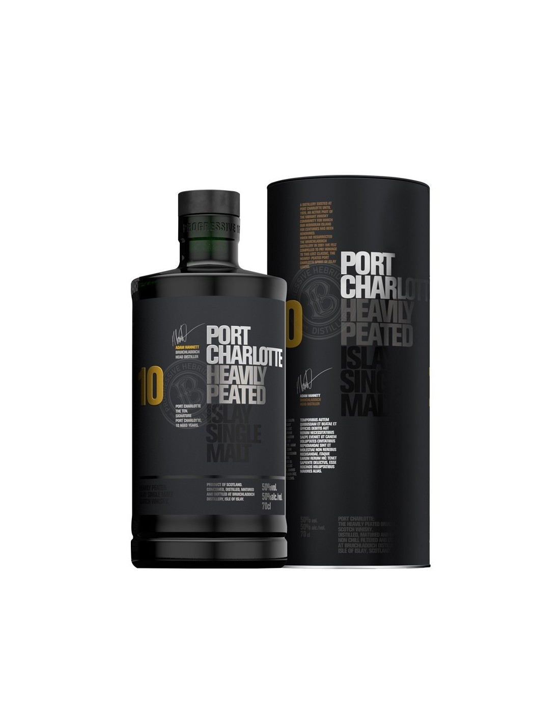 Whisky Port Charlotte, 10 ani, 50% alc., 0.7L, Scotia